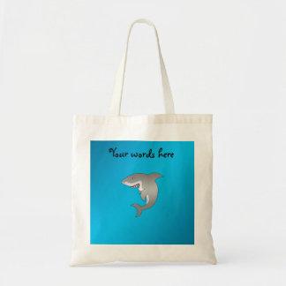 Fondo del azul del tiburón bolsa tela barata