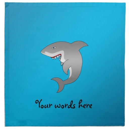 Fondo del azul del tiburón servilleta de papel
