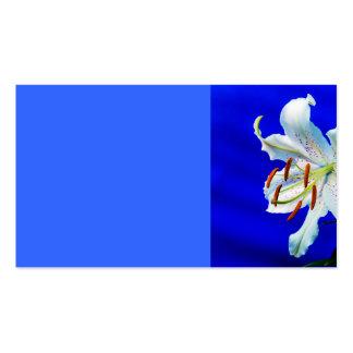 fondo del azul real de la flor del lirio tarjetas de visita