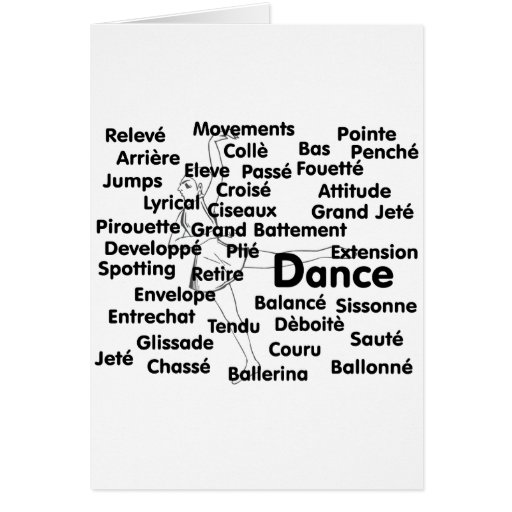 Fondo del bailarín de ballet del negro litros de l tarjeta pequeña
