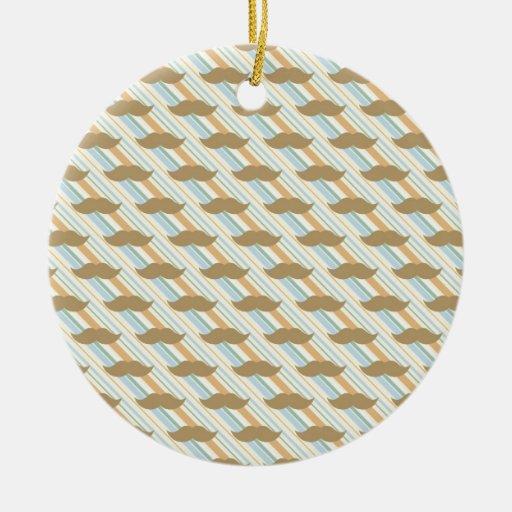 Fondo del bigote ornamento para arbol de navidad