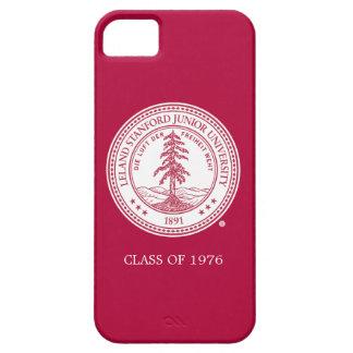Fondo del blanco del sello de la Universidad de Funda Para iPhone 5 Barely There