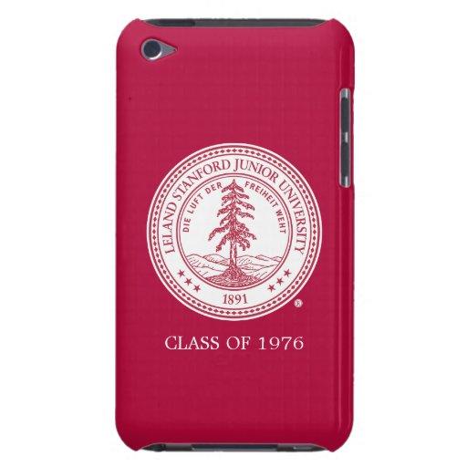 Fondo del blanco del sello de la Universidad de iPod Case-Mate Funda