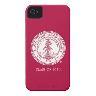 Fondo del blanco del sello de la Universidad de St iPhone 4 Case-Mate Carcasas