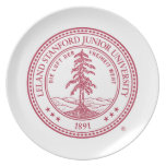 Fondo del blanco del sello de la Universidad de St Plato De Comida