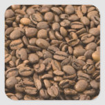 Fondo del café colcomanias cuadradas