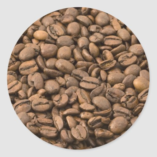 Fondo del café etiqueta redonda