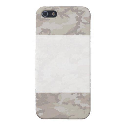 Fondo del camuflaje del desierto aligerado iPhone 5 protectores