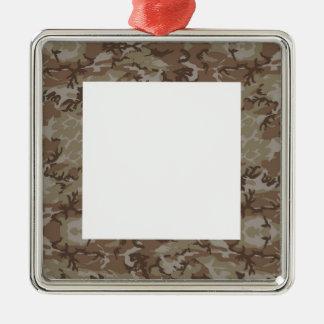Fondo del camuflaje del desierto ornaments para arbol de navidad