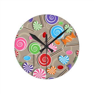 Fondo del caramelo del Lollipop Relojes