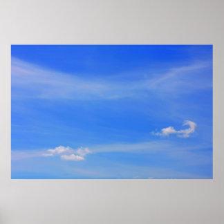 Fondo del cielo azul poster