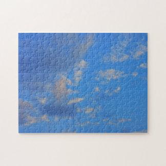 Fondo del cielo azul puzzles con fotos