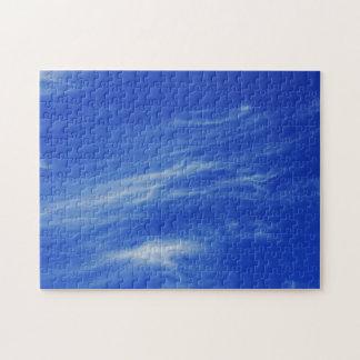 Fondo del cielo azul puzzles