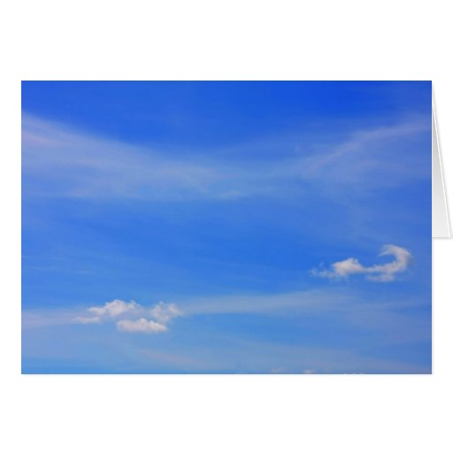 Fondo del cielo azul tarjeta