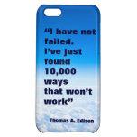 Fondo del cielo del éxito de la cita de Thomas Edi