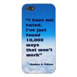 Fondo del cielo del éxito de la cita de Thomas Edi iPhone 5 Protectores