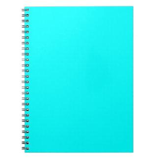 Fondo del color de la aguamarina libreta