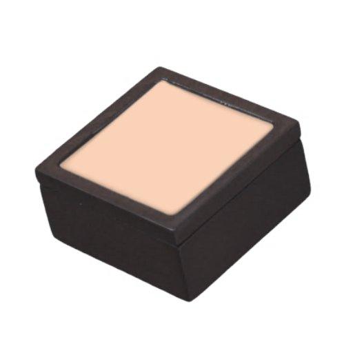 Fondo del color del albaricoque cajas de joyas de calidad