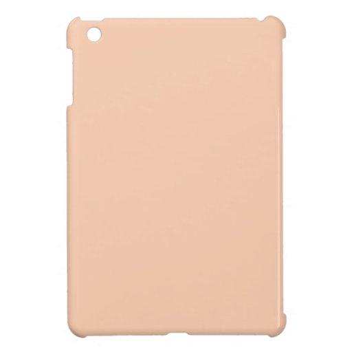 Fondo del color del albaricoque iPad mini fundas