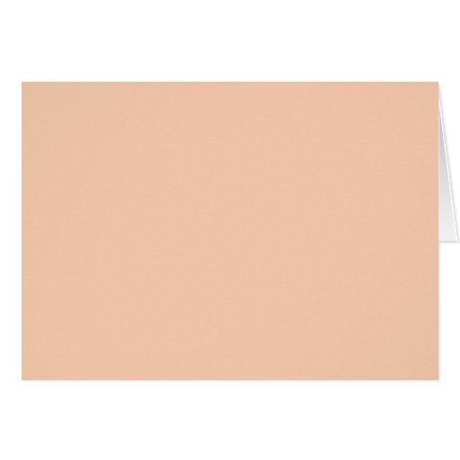 Fondo del color del albaricoque tarjeta de felicitación