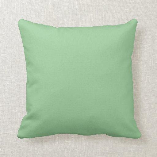 fondo del color sólido del verde del Celadon Cojín