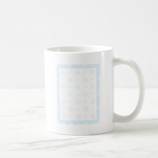 Fondo del copo de nieve taza de café