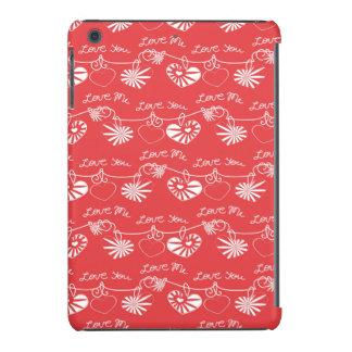 Fondo del día de San Valentín Funda De iPad Mini