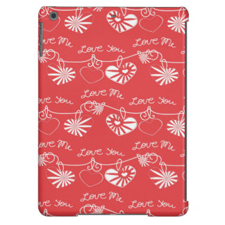 Fondo del día de San Valentín Funda Para iPad Air