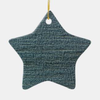 Fondo del dril de algodón de los tejanos adorno de cerámica en forma de estrella