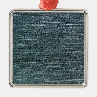 Fondo del dril de algodón de los tejanos adorno cuadrado plateado