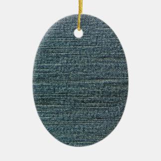 Fondo del dril de algodón de los tejanos adorno ovalado de cerámica