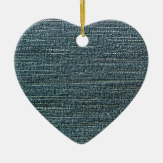 Fondo del dril de algodón de los tejanos adorno de cerámica en forma de corazón