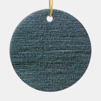 Fondo del dril de algodón de los tejanos adorno redondo de cerámica