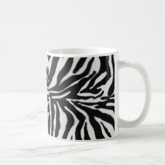 Fondo del estampado de animales de la cebra taza de café