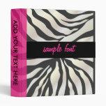 Fondo del estampado de zebra binders/DIY de