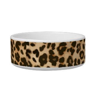 Fondo del estampado leopardo comedero para mascota