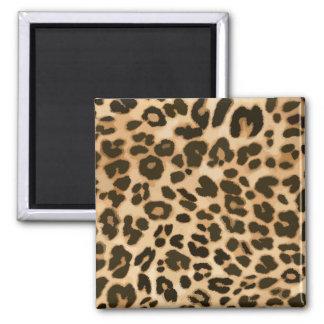 Fondo del estampado leopardo imán cuadrado