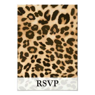 """Fondo del estampado leopardo invitación 3.5"""" x 5"""""""
