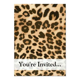 """Fondo del estampado leopardo invitación 5"""" x 7"""""""