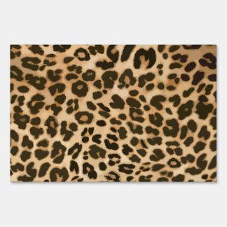 Fondo del estampado leopardo letrero