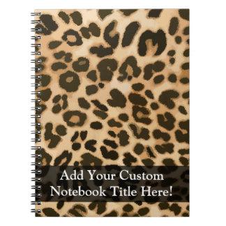 Fondo del estampado leopardo libros de apuntes