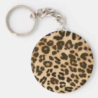 Fondo del estampado leopardo llavero redondo tipo pin