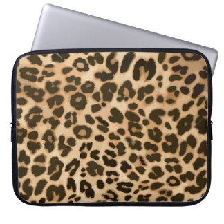 Fondo del estampado leopardo mangas computadora