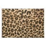 Fondo del estampado leopardo manteles