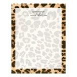 Fondo del estampado leopardo membrete personalizado
