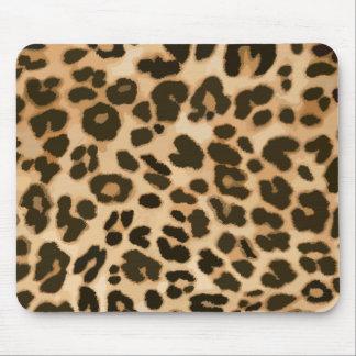 Fondo del estampado leopardo mousepad