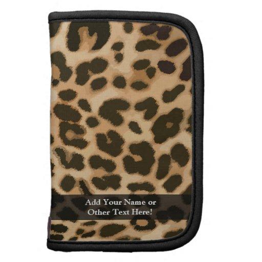 Fondo del estampado leopardo organizador