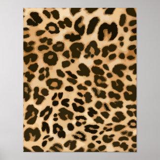 Fondo del estampado leopardo impresiones