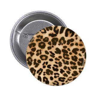 Fondo del estampado leopardo pin redondo de 2 pulgadas