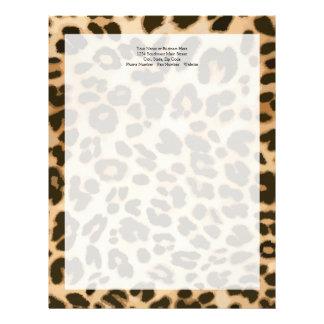 Fondo del estampado leopardo plantillas de membrete